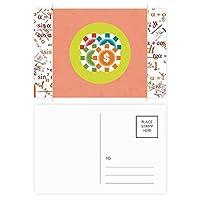 カジノチップの漫画イラスト 公式ポストカードセットサンクスカード郵送側20個