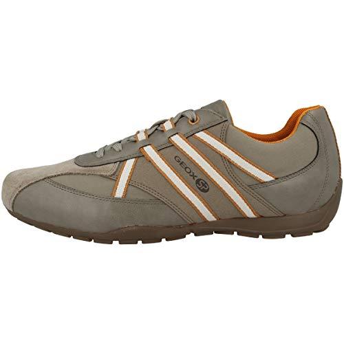 Geox Herren Atreus Boy 1 Sp Durable Sneaker Turnschuh, Sand/Orang, 44 EU