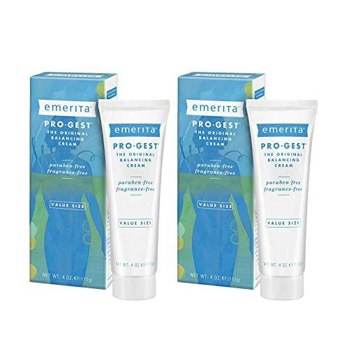 Emerita Pro-Gest Balancing Cream   The Original Progesterone Cream   USP Progesterone Cream from Wild Yam for Optimal Balance at Midlife   4 oz   2 pk