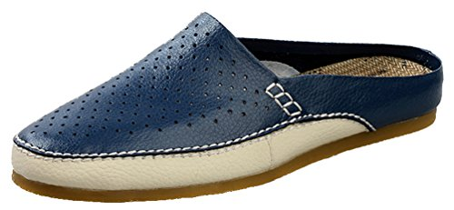 Salabobo - Zapatos con Correa de Tobillo Hombre, Color Azul, Talla 39.5 EU