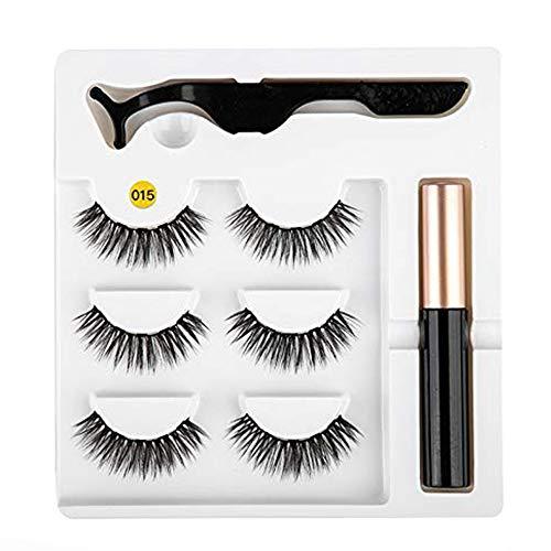 Eyeliner magnétique Kit de faux cils facile à porter Eyeliner liquide à séchage rapide Eyeliner magnétique de faux cils Eyeliner liquide magnétique Eyeliner liquide False Eyelashes Set # 15