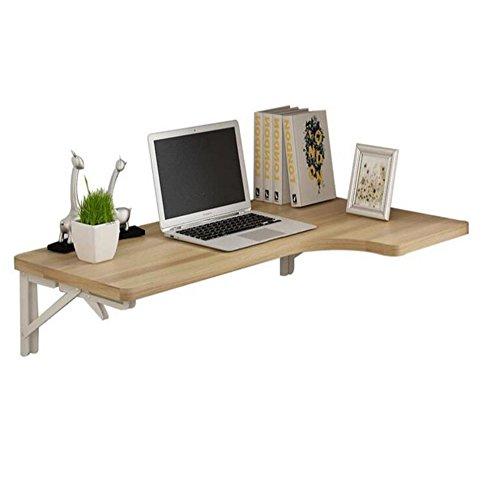 CHGDFQ Mesa plegable de pared para mesa de comedor, mesa de trabajo, mesa de trabajo para ordenador portátil (5 colores, 4 tamaños) (color: color madera, tamaño: 80 x 50 cm)