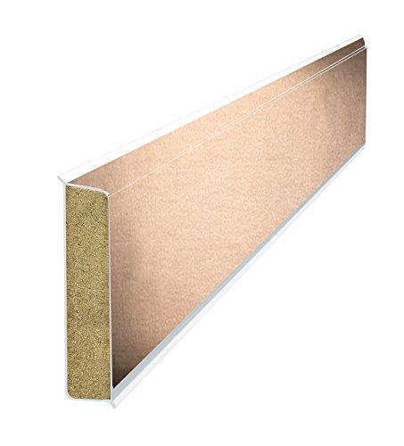 Kransen-Floor Cubu Flex Life Premium Kupfer hell 1193 - 60mm hohe Holzkernsockelleiste mit Echtmetall-Folien-Ummantelung für Vinylboden, Laminat und PVC Abschlussleiste Wandabschlussprofil metallic - Paket a 25m