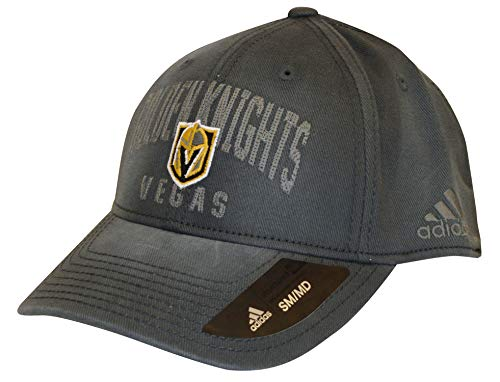 adidas Gorras Vegas Golden Knights Heavy Washed Cotton Charcoal Flexfit