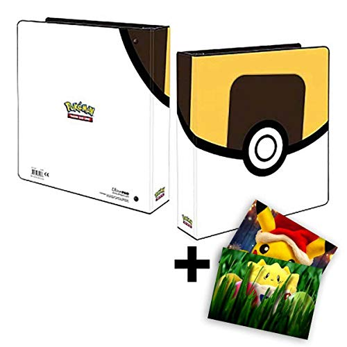 Lively Moments Pokemon Ultra-Pro 3-ring-map A4 in ultraball-look verzamelkaartenalbum + gratis wenskaart