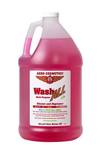 Aero Cosmetics Wash All Multi-Purpose Cleaner and Degreaser for Your Home, Car, RV, Boat and Motorcycle