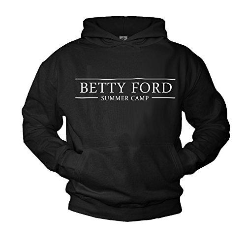 Makaya Pull à Capuche Homme Betty Ford Summer Camp Noir L