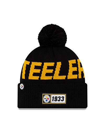 New Era ONF19 Sport Knit Mütze Pittsburgh Steelers Schwarz Gelb, Size:ONE Size