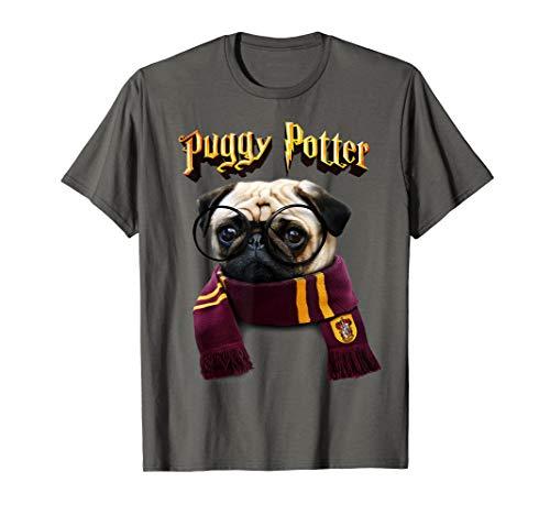 Puggy Potter Tshirt - Süßes und lustiges Mops T-shirt - Hund