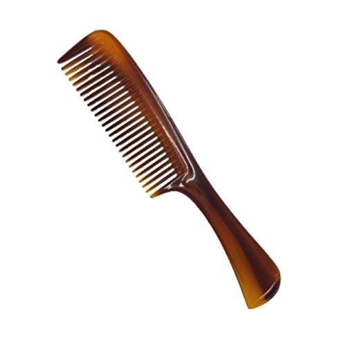 The Home Fusion Company Marron Petit Manche Désemmélant Qualité Peigne pour Cheveux Sac à Main Taille 19.5cm