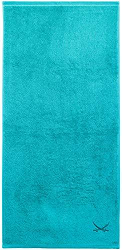 Sansibar Duschtuch 70x140 cm 100% Baumwolle mit gesticktem Säbel Logo Badtuch Handtuch Türkis Einzeln