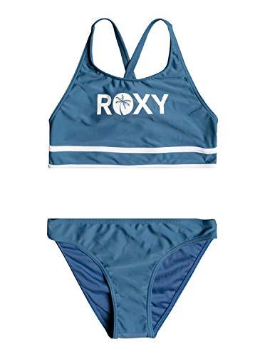 Roxy Surf Time - Conjunto de Bikini Crop Top para Chicas 8-16