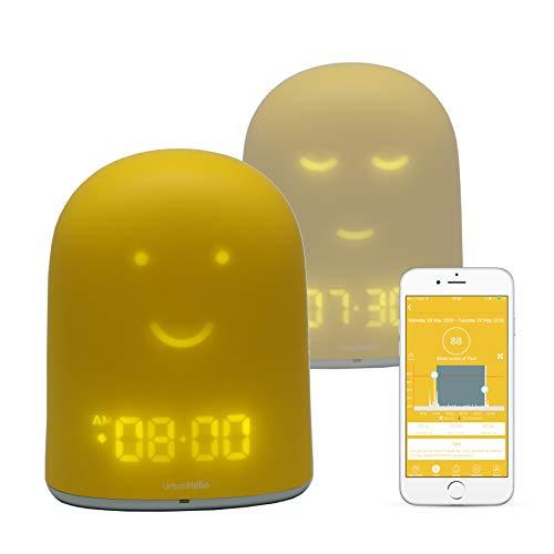 REMI - Le Meilleur Réveil Enfant Jour Nuit éducatif pour Apprendre à Dormir Plus - Suivi du Sommeil - Babyphone - Veilleuse - Enceinte Musique - Jaune