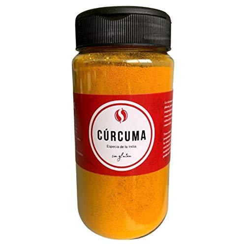 Cúrcuma TodoEspecias 190g - Sin gluten - 100% Natural - Bote Especiero con 2 dosificadores