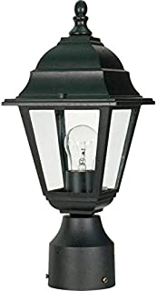 Nuvo 60/548 Outdoor Post Lantern, 14 x 6 Inches, 60 Watts/120 Volts, Black