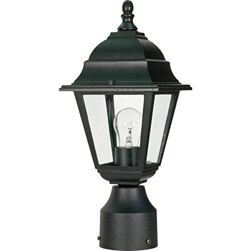 Nuvo Lighting 60/548 Outdoor Post Lantern, 14 x 6 Inches, 60 Watts/120 Volts, Black