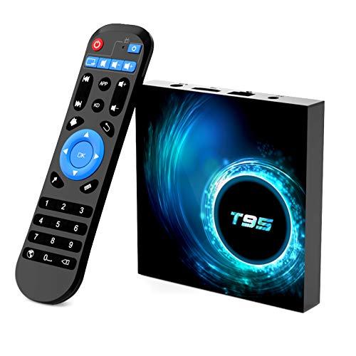 Android 10.0 TV Box, TUREWELL Android TV Box Allwinner H616 Quadcore 2GB RAM 16GB ROM Mali-G31 MP2 GPU Soporte 6K 3D 1080P 2.4/5.0GHz WiFi 10/100M Ethernet DLNA HDMI 2.0 H.265 Smart TV Box