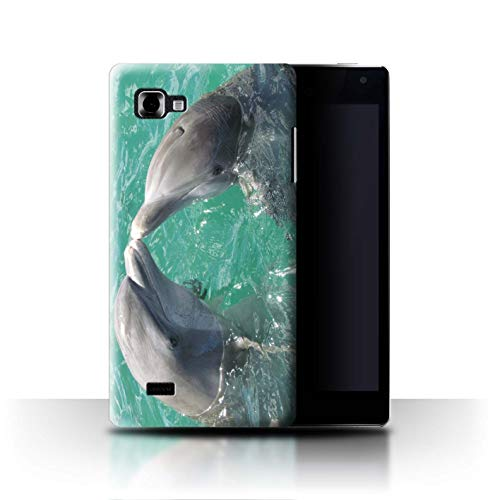Stuff4® Phone Case/Cover/Skin/LGFL-CC/Sea Life Dolphins Collection LG Optimus 4X HD P880 Schöner Ozean Kuss