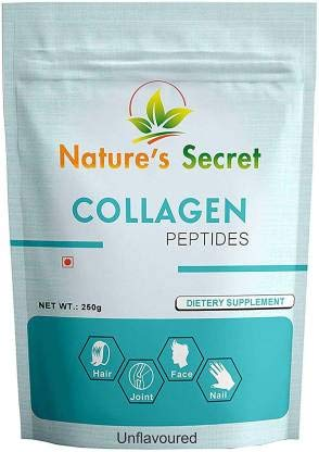 Nature's Secret Amino Collagen Powder 250 Grams,Premium Hydrolyzed Collagen Powder Supplement for Skin,Hair,Nails,Joints and Bones.Collagen Peptides Type 1 & Type 3, unflavored (250 G)