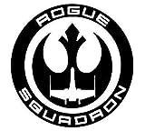 Adesivo vinilico Nero Star Wars Rogue Squadron | Auto Camion, furgoni e pareti, Nero | 5,5 x 5,5 Pollici | LLI517