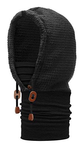 BUFF® SET - HOODIE THERMAL Capuche + UP® Tissu tubulaire   Respirante   Antibactérien   Anti-odeur   Merino   Fleece, alle Buff Designs 2016:164. BLACK Thermal