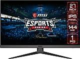 MSI Optix G272 - Monitor de 27' FullHD 144Hz (1920x1080p, ratio 16:9, Panel IPS, 1 ms respuesta, brillo 250 nits, Anti-glare) negro, compatible con consolas