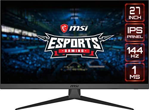 MSI Optix G272 Esports Gaming IPS Monitor - 27 Inch, 16:9 Full HD (1920 x 1080), IPS, 144Hz, 1ms,...