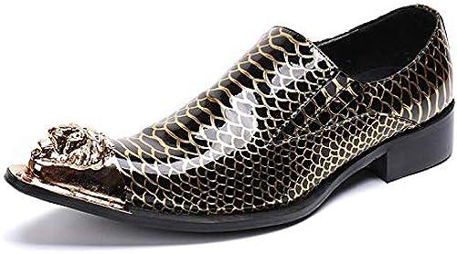 LOVDRAM Chaussures en Cuir pour Hommes Italien Formelle Robe Bureau Chaussures De Luxe Marque Mode élégant Oxford Chaussures pour Hommes Chaussures De Mariage