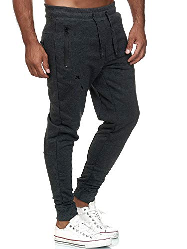 Red Bridge Herren Jogginghose Jogger Hose Freizeithose Sweat-Pants R-B-J M4236-Anthrazit-S