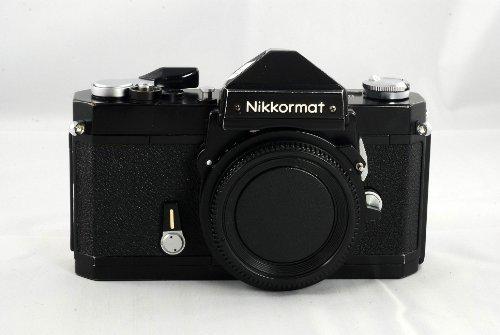 Black Nikon Nikkormat FTN manual focus film camera body; lens is not included
