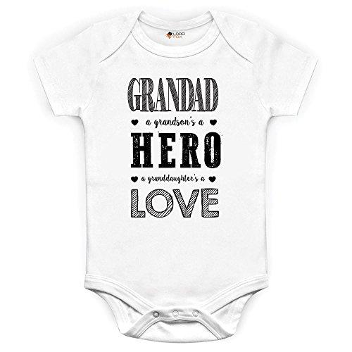 Un héroe de la Nieto un granddauhters Love Dad Grandad abuelo body y gorro para bebé, diseño serigrafiado Onesie Talla:Premature