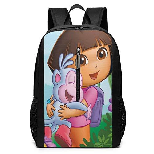 "Mochila Mochila de Viaje Dora The Explorer 3D Printing 17"""" Classic Multifunctional High Capacity Backpack Computer Bag"