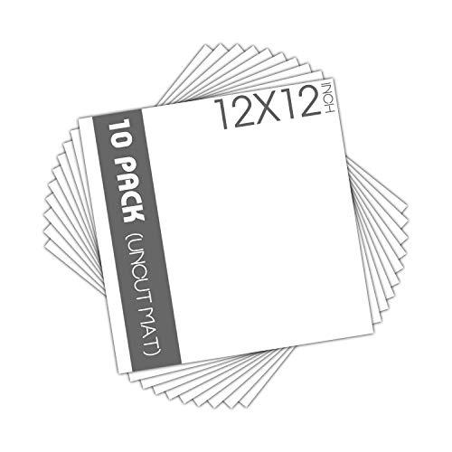 Matte Board Center, 10 Stück, 30,5 x 30,5 cm, ungeschnittene, weiße Matte, säurefrei, 4-lagige Dicke, weißer Kern – für Bilder, Fotos, Rahmen – ideal für DIY-Projekte oder einzigartige Bildgrößen