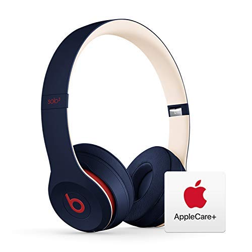 Beats Solo³ Wireless On-Ear Headphones - Apple W1 Chip - Club Navy with AppleCare+ Bundle