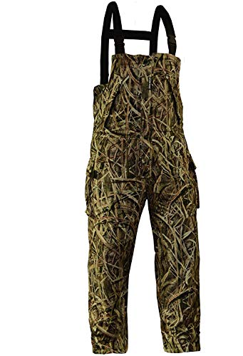 Rivers West Men's Ambush Heavyweight Waterproof Windproof Camouflage Fleece Hunting Bib, Mossy Oak Shadowgrass Blade, Large
