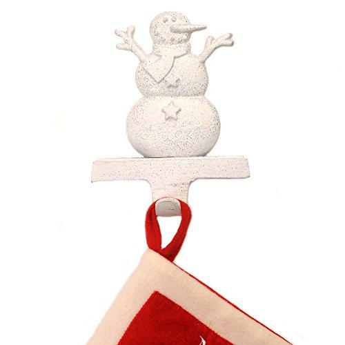 Insideretail Dimensioni: 10 x 10 x 10 cm, con Calza di Natale, Motivo: Pupazzo di Neve con Supporto, Set da 2, Colore: Bianco