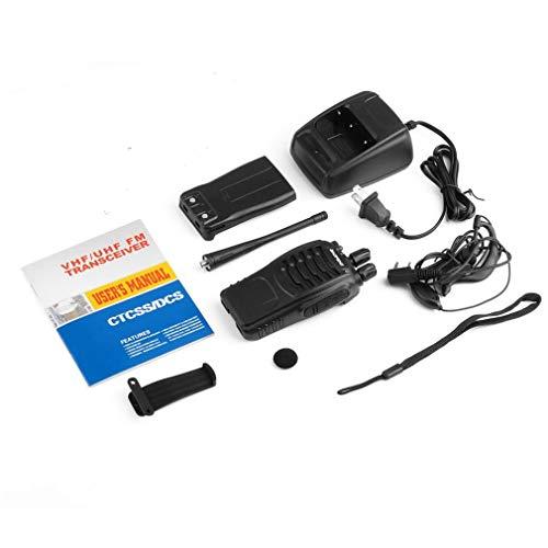 Leoboone Mensaje de Voz de Carga Inteligente Programación de PC Alarma de Emergencia Portátil de Mano 5W Ham Transceptor de Radio bidireccional