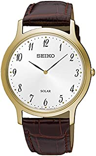 Seiko Men SUP860P Year-Round Analog Solar Powered Brown Watch