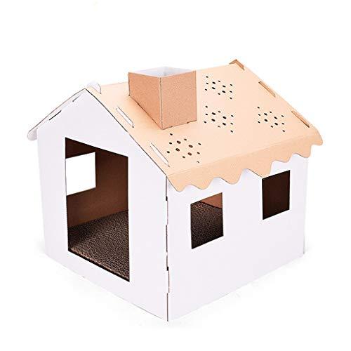 NA. Nangjiang - Almohadillas de cartón corrugado para gatos con 4 orificios para ventana