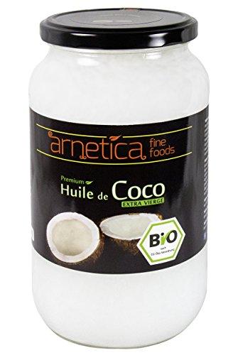 1000ml Aceite de coco extra virgen arnetica, 1L, producto natural certificado orgánico, nativo, prensado en frio, no procesado, vegano