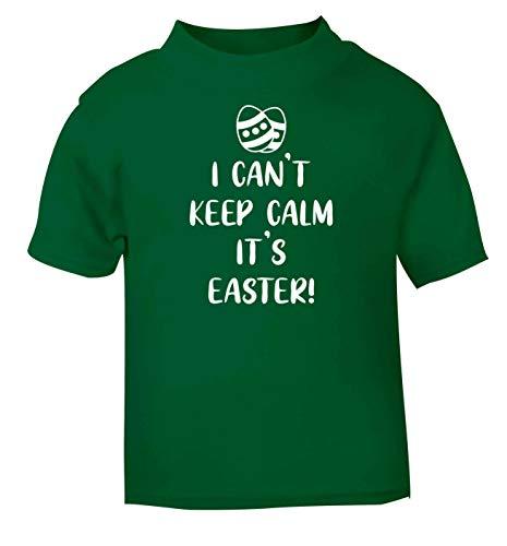 Flox Creative T-Shirt pour bébé Inscription I Can't Keep Calm It's Easter - Vert - 6-12 Mois