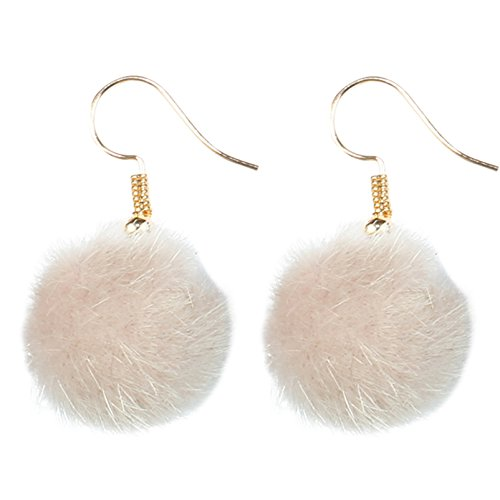 De Funky Barcode FLUFFY PALE PINK DANGLE OARRINGS Gift Box Beschikbaar
