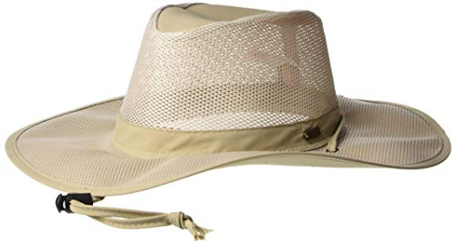 Stetson Men's Insect Shield Big Brim Mesh Safari Hat, Khaki, Medium