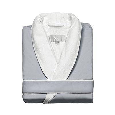 Turkishtowels Mens and Womens Silk-soft Luxury Spa Robe