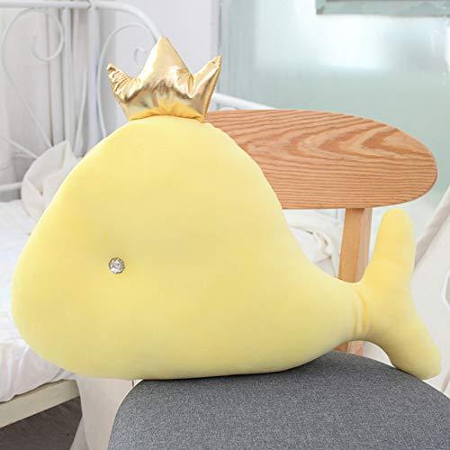 CZYCWJ 55 Cm Zachte Zeepark Knuffelig Cartoon Kroon Dolfijnen Pluche Dier Pop Zacht Walvis Kussen Kussen Kinderen Verjaardagscadeau