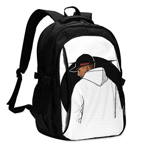 Hdadwy Capital Bra 4 3D-Druck mit USB-Rucksack, Schultasche, Reisetasche, Bergsteigertasche