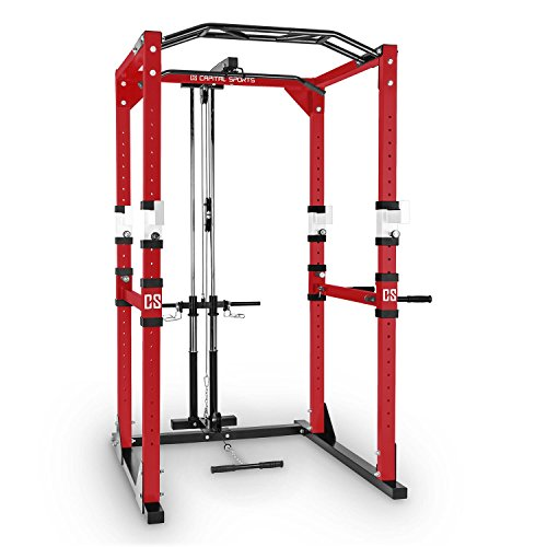 Capital Sports Tremendour Pl Potencia Rack Homegym de poleas...