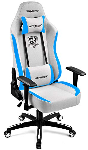 GTRACING Gaming Chair Fabric Racing Office Computer Game Chair Ergonomic Backrest and Seat Height...