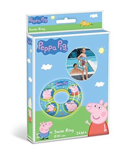 Mondo Mondo-16639 Toys-Peppa Pig Swim Ring-Ciambella Gonfiabile-Anello di Nuoto Salvagente-Ideale Bambina Utilizzabile in Piscina/mare-16639, Colore PAS Variation De Couleurs, Taglia Unica, 16639