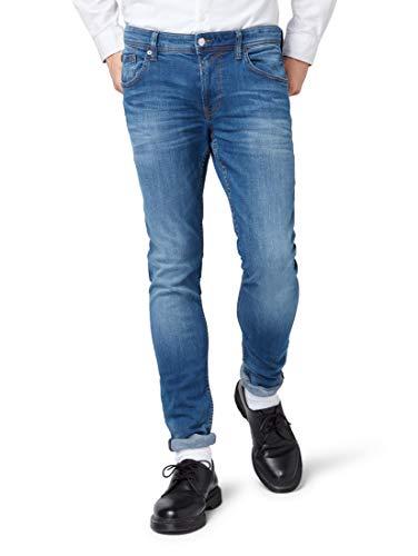 TOM TAILOR Denim Herren Culver Skinny Jeans, Blau (Used Dark Stone Blue 10120), W34/L34